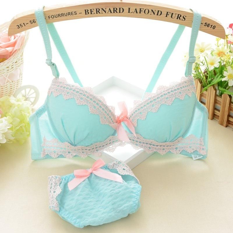 Floral Lace   Bra     Set   Plus Size Women Lingerie Seamless Underwear   Sets   Underwire   Bra   Push Up Green Blue Pink   Bra   and Panty   Set