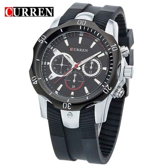 Curren Для мужчин часы Кварцевые водонепроницаемые часы черный пластина Роскошные Часы Альпинизм мужской таблицы Повседневное сопротивление 8163
