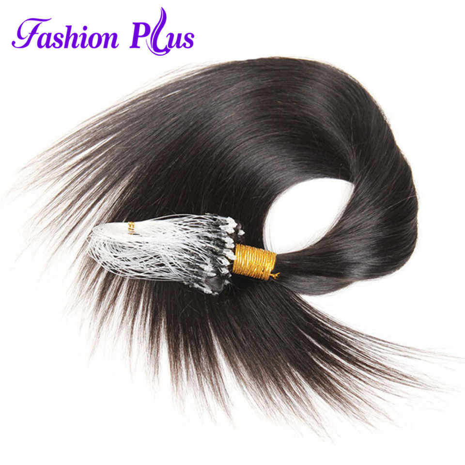 Micro Loop Ring Human Hair Extensions 1g/strand 100g '-24''Real Remy Hair Extensions Gekleurd Haar sloten Micro Bead hair