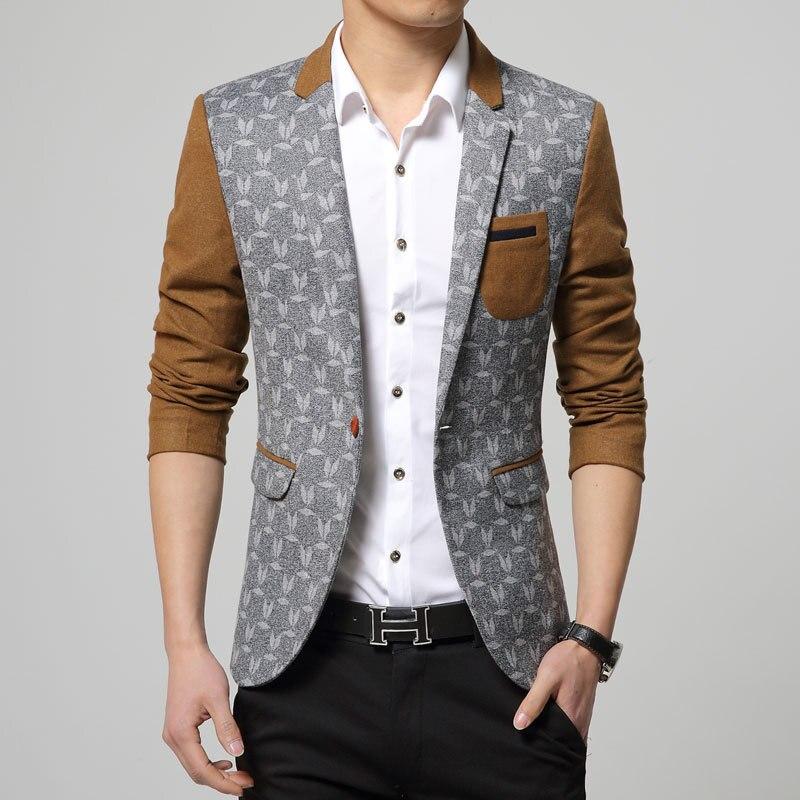 New Design Mens Blazer Jacket Korean Style 2015 Long ...
