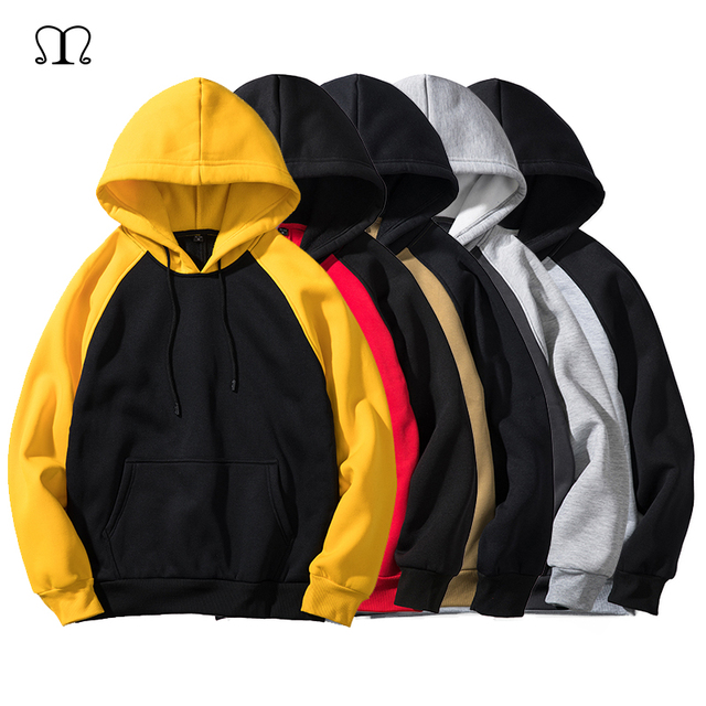 8362b0421 Hoodies Men Thick Clothes Autumn Winter Long Sleeve Patchwork Sweatshirts  Mens Women Streetwear Fleece Unisex Hoody Man Clothing