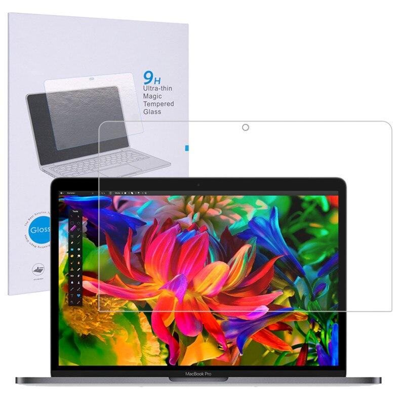 Цена за Qosea Для 2016 НОВЫЙ Apple Macbook Pro 13 Закаленное Стекло Экрана протектор Фильм 9 H Ultra Clear Царапинам Для Macbook Pro 13