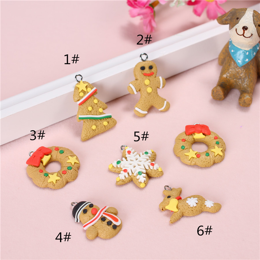 Polymer Clay Christmas Jewelry.Us 3 15 25 Off 8pc Lot Handmade Polymer Clay Small Merry Christmas Pendant Lots For Diy Necklace Christmas Jewelry Making Decoration Supplies In