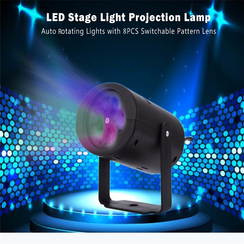Premium LED Stage Light Magic Ball Disco DJ Laser Lighting with 8PCS Switchable Pattern Lens For Wedding Christmas Halloween rg mini 3 lens 24 patterns led laser projector stage lighting effect 3w blue for dj disco party club laser