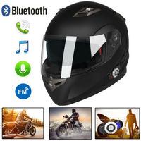 Dot Approved Wireless Bluetooth Motorcycle Full Face Helmet With BT Intercom Built in