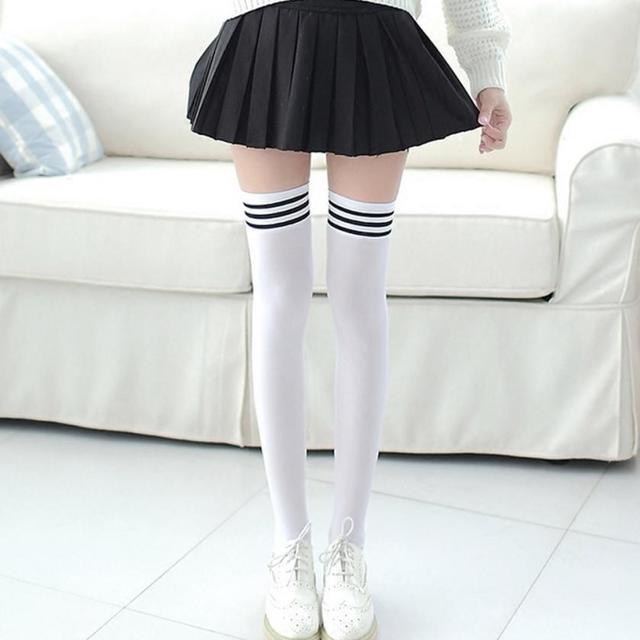 8f31c427469c3 Sexy Fashion Women Girl Thigh High Stockings Knee High Socks Cute Long  Cotton Warm Over The Knee Socks 2018 Hot Sale #NX4660