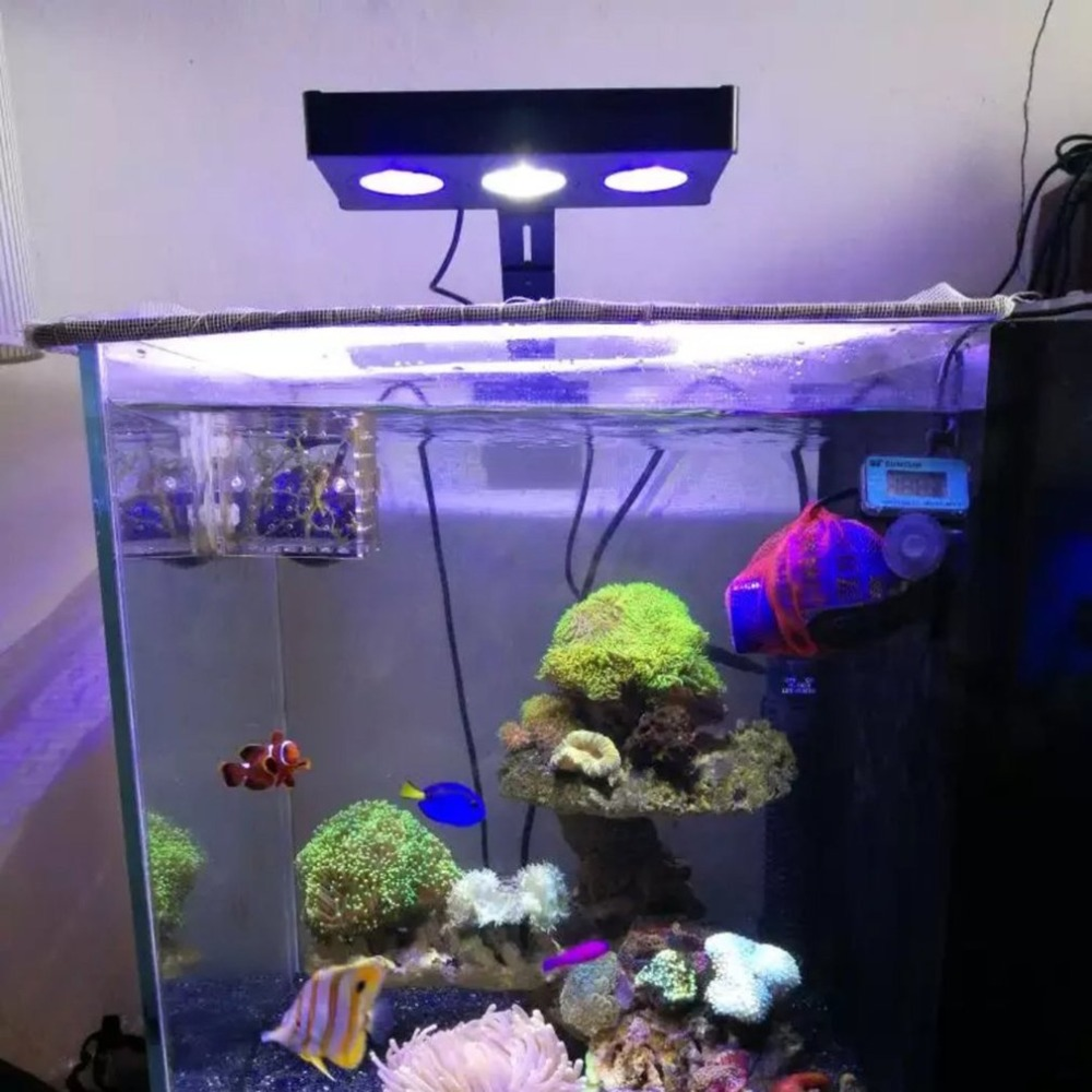 LED Aquarium Light 30W Indoor Aquarium LED Light Saltwater Lighting with Touch Control for Coral Reef Fish Tank with EU/US Plug rgb 5730 smd led underwater light 20 25 30 31 35 36 40 45 50 60cm aquatic coral aquarium sea reef fish tank us eu uk au plug