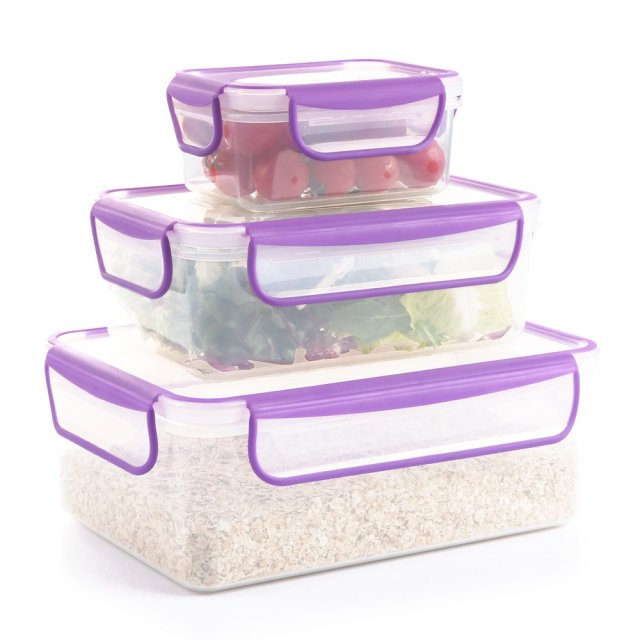 COZZINE Set Of 3 Lock And Lock Food Storage Container Kitchen Storage Boxes  Large/Small