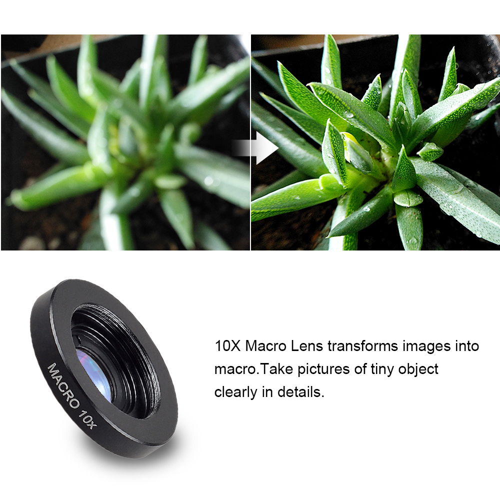 APEXEL 2 in 1 Optic lens 4k HD professional wide angle macro lenses For iPhone 7 8 X Samsung S8 Cell Phone Lentes no distortion