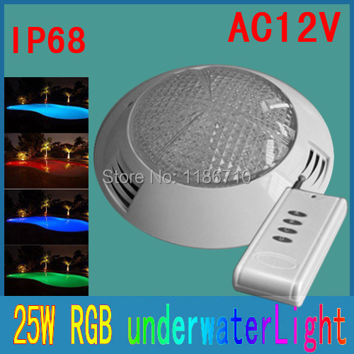 Underwater Light Piscina LED RGB Swimming Pool 350 LED 25W 12V LED Underwater Lamp With Remote Control Spot Lamp Free Shipping