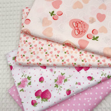 Cotton Twill Fabric Printed Heart fabric by half meter DIY Childrens Wear Cloth Make Bedding Quilt Decoration Home