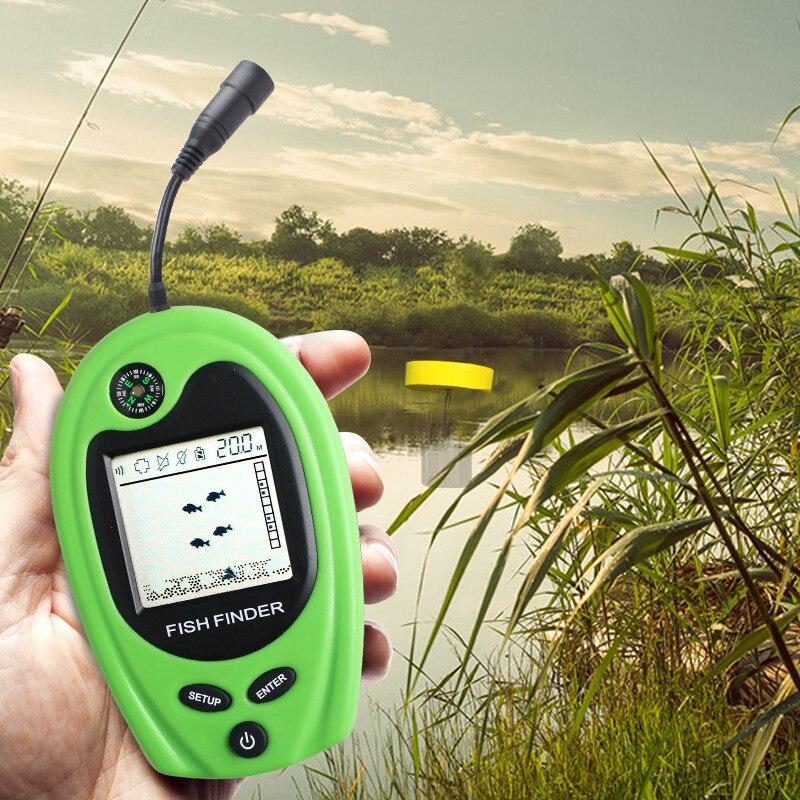 Sonar à poisson 2018 Sonar avec fonction Compas affichage haute définition GPS marin Portable sondeur de profondeur Sonar sondeur 100 M pieds