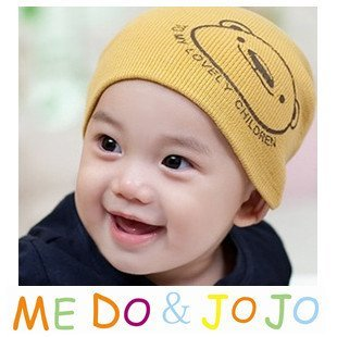 10PCS/lot wholesale baby cap infant hat cute bear Cotton kids hats Boy Girl baby hat children clothing