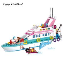 Sluban B0609 323pcs Girl Dolphin Cruiser Model Building Block Bricks Compatible Legoe Kits Classic Educational Toys For Hobbies(China)