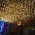 Led 3M x 3M 300LED наружное украшение для дома  Рождественская Декоративная гирлянда  сказочные занавески  гирлянды  Свадебные огни