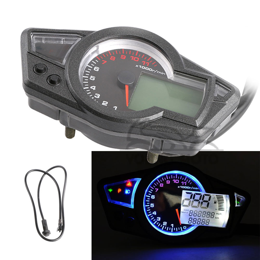 Universal 1000rpm  Min Kmh  Mph Lcd Display Digital Led