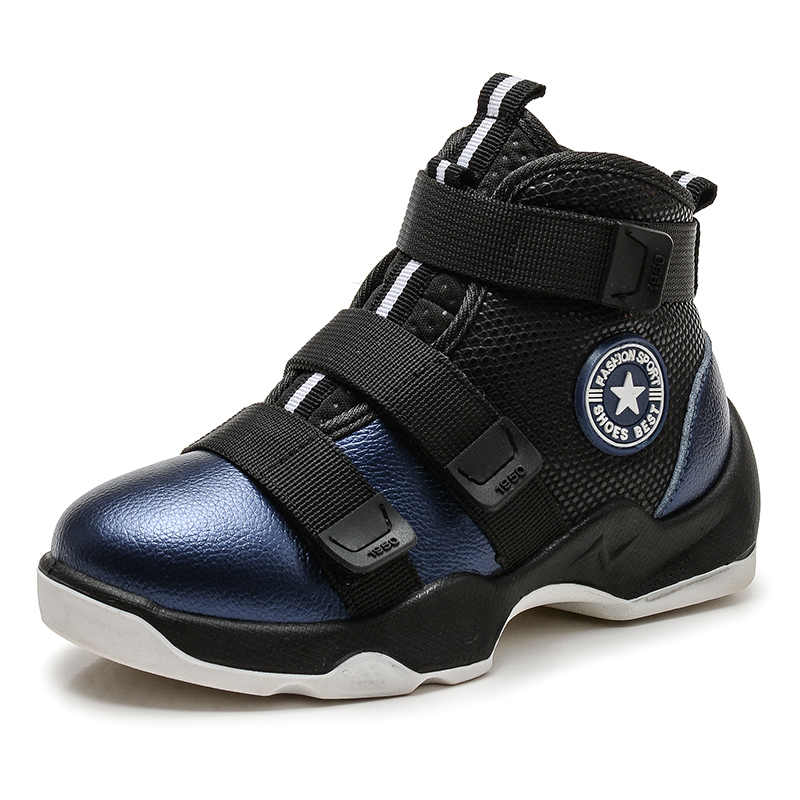 Осенне-зимние детские ботинки; обувь для мальчиков; модные зимние ботильоны из натуральной кожи; теплые плюшевые кроссовки; водонепроницаемые детские Ботинки Martin