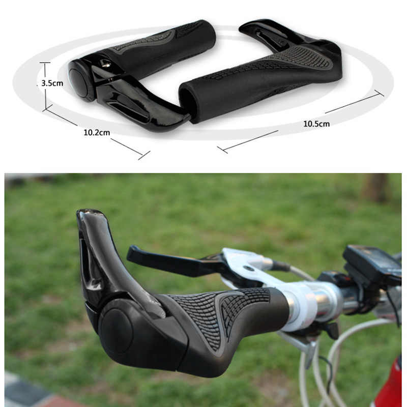 1 Set Cycling MTB Mountain/Road Bike Bicycle Lock-On Carbon Handlebar Cover Handle Grip Bar End Bicycle Parts 19ing