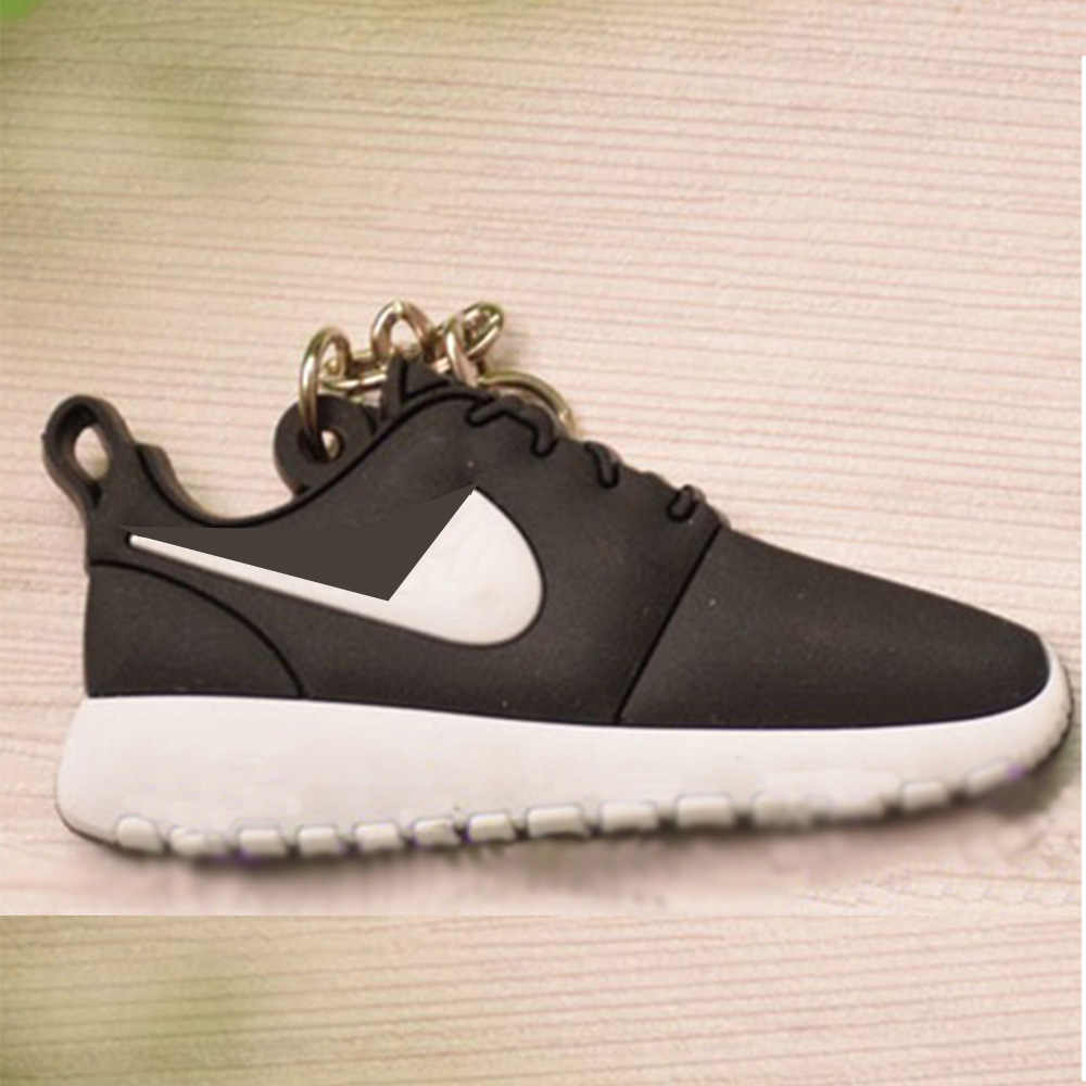20 PCS Mini Silicone Jordan Sneaker Roshe Homens Mulher Kids Presentes Chave Anel Chave Chaveiro Charme Saco Titular Acessórios