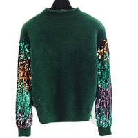 Women Loose Fashion Sequin Knitted Sweaters And Pullovers For Women Autumn Winter Pull Femme Knitting Outerwear