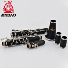 Neue JINBAO JBCL-530 Student Klarinette 17 key Professionelle clarinete B Flache vernickelt Klarinette schilf fall holzblasinstrumente