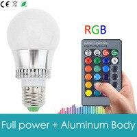 คุณภาพสูง5วัตต์E14 E27 RGBหลอดไฟLED 16