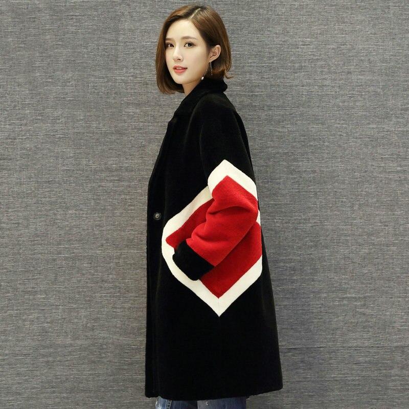 5XL мутон 100% Шерстяные пиджаки Tonfur Для женщин куртка натуральный мех пальто Зимние куртки Женская одежда топы зима не кожа большие размеры