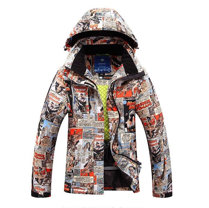 2019 nouveau hiver vestes de Ski femme veste de haute qualité coupe-vent imperméable à l'eau chaud coloré lumineux veste de Ski femmes