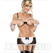 Maid costume Uniform temptation exposed breasts erotic  underwear