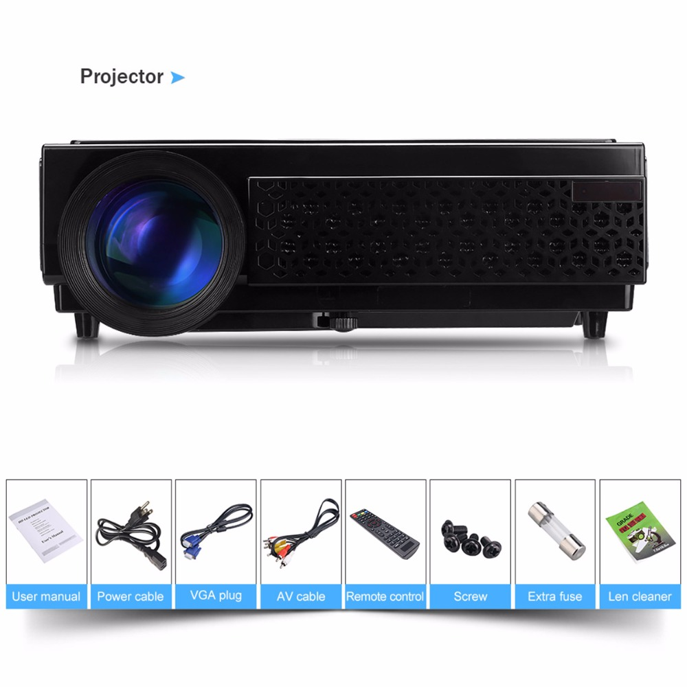 Excelvan LED 96+ LED Full HD LED 5500Lumens Home Cinema Projector TV 3D LCD  Multimedia Video Game Projector/ Proyector/Beamer -in Projectors from  Computer ...