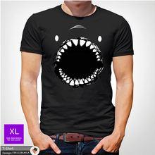Shark face t shirt tshirt mens christmas birthday gift fish XMAS Dark Gray ! Funny Tops Tee New Unisex free shipping