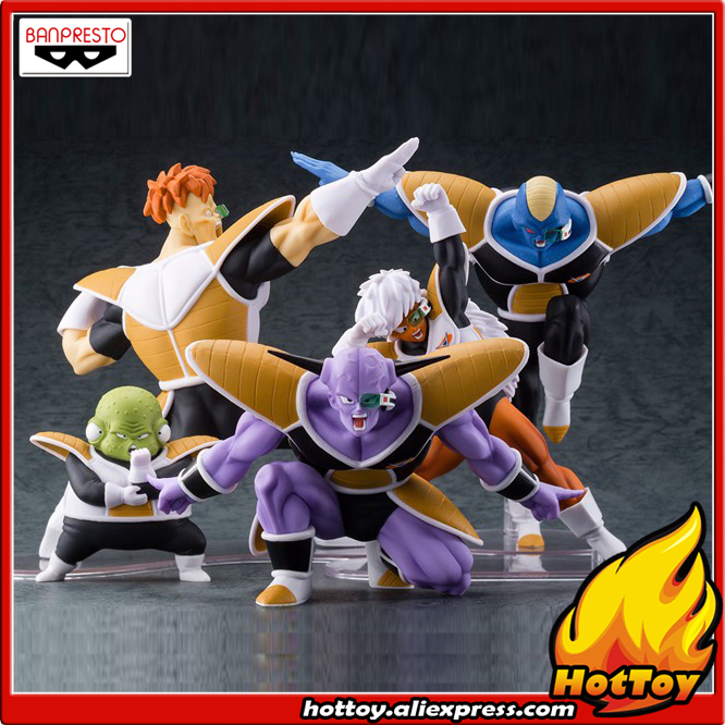 100% Original Banpresto DRAMATIC SHOWCASE 2nd season Collection Figure - Ginyu & Burtta & Jees & Recoom & Ghourd Dragon Ball Z showcase presents superman team ups volume 2