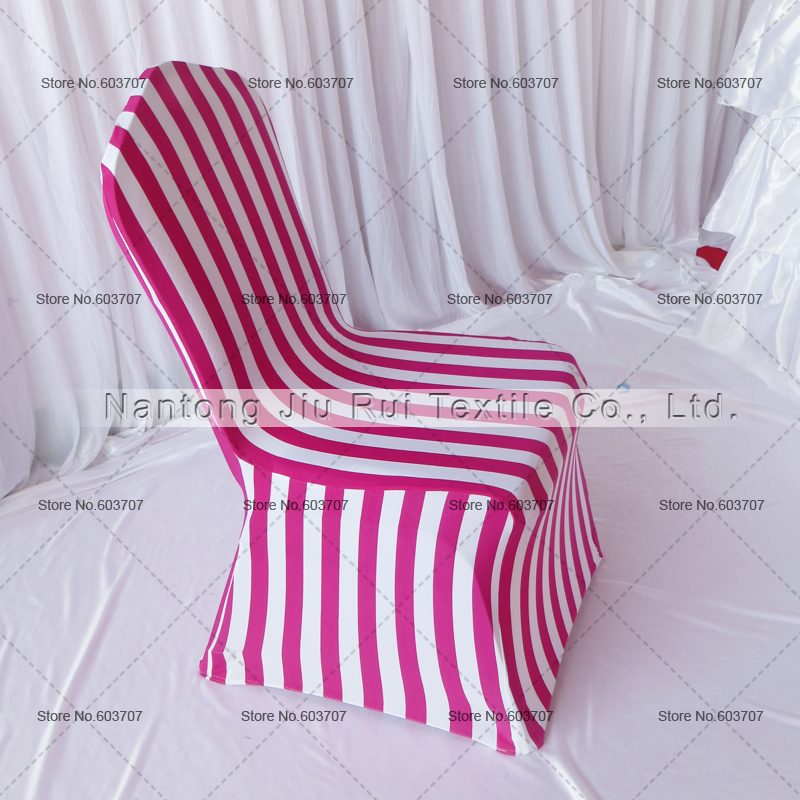 2pcs Spandex Stretch Universal Dining Chair Cover Pinkred White ...