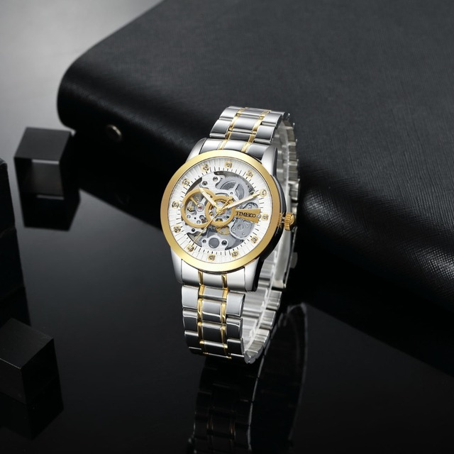 TIME100 - Mechanical Self-Wind Skeleton Space Watch 3