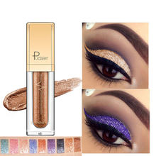 Pudaier 1PC 18 Colors Glitter Eyeshadow Liquid Pigment Makeup Crayon Metallic Maquillage Diamond Eye Shadow Pallete Makeup(China)