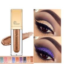 Pallete Makeup Glitter Eyeshadow Pudaier 18-Colors Liquid-Pigment Diamond Metallic Crayon