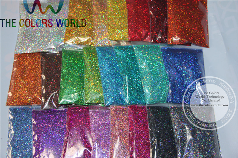 ФОТО 0.4MM 24 Holographic Laser glitter colors dust  for nail tattoo,nail polish  Art  or other DIY decoration 1pack=1200g