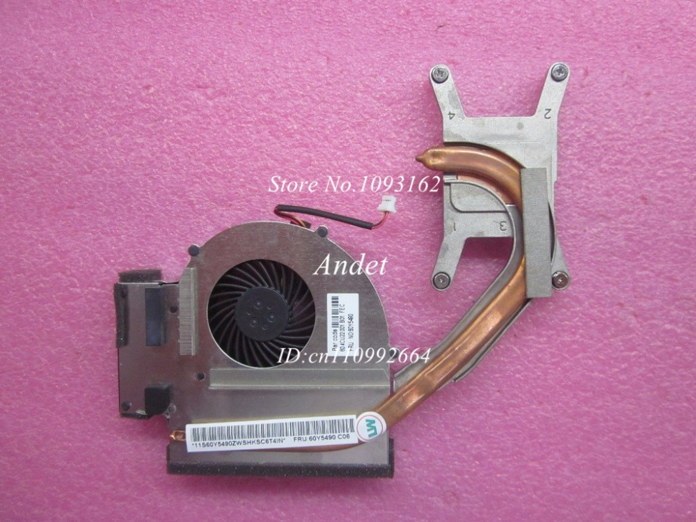 New Original CPU Fan Heatsink for Lenovo ThinkPad T510 T510i Integrated Graphics Laptop 60Y5490 60Y5489 60Y4977 new original for lenovo thinkpad yoga 260 bottom base cover lower case black 00ht414 01ax900