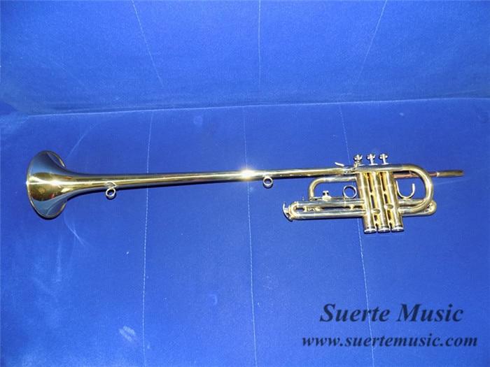 Herald Trumpet Strumenti musicali Bb Flat Trompete Brass instruments Con bocchino Hard case