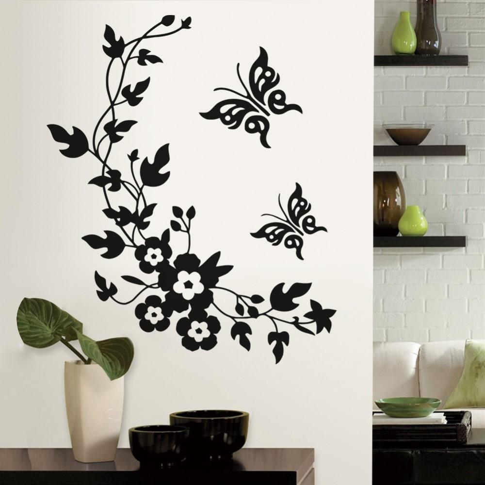 HTB1sAl8KpXXXXXMapXXq6xXFXXXN - 3D butterfly flowers wall sticker for kids room bedroom living room-Free Shipping