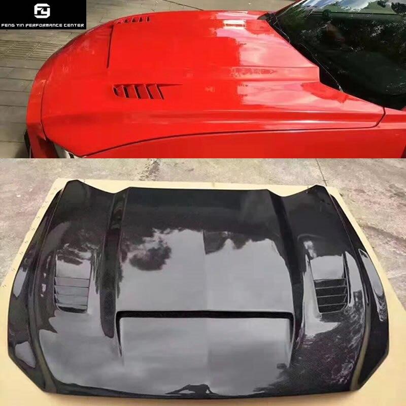 Capot moteur Crbon fiber FRP non peint capot moteur pour kit carrosserie Ford Mustang 15-17