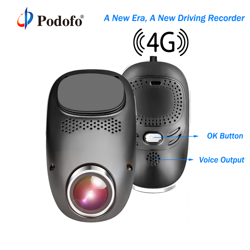 все цены на Podofo 4G Car DVR Android Wifi Mini Hidden Dash Cam GPS ADAS Registrator Dual Lens 1080P Camara Automovil Night Vision Dashcam