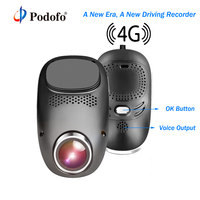 Podofo 4G Wifi Dash Cam Android GPS Mini Hidden Car DVR ADAS Registrator Dual Lens 1080P