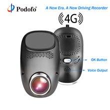Podofo 4G Wifi Dash Camera Android GPS ADAS Registrator Dual lens Full HD 1080P  Dash cam Mini Loop Recording Dashcam Car DVR