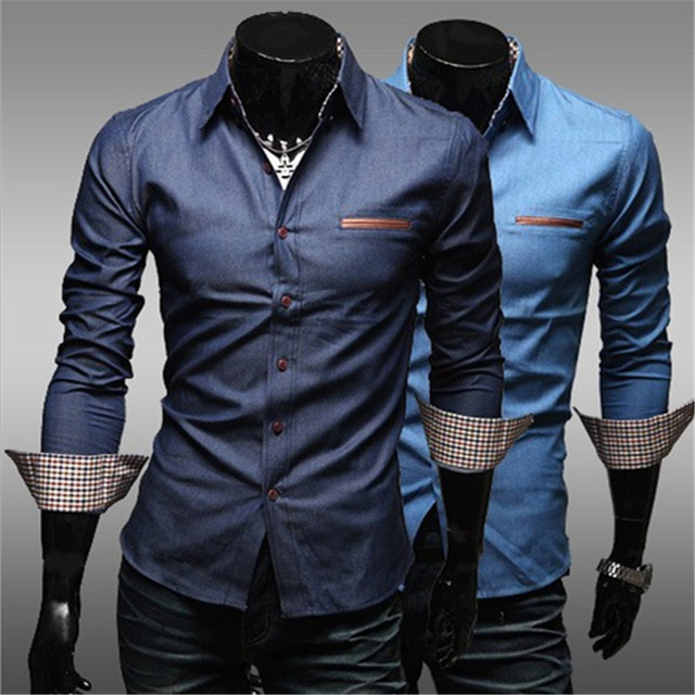 78d0d8638d7 Men Shirt Long Sleeve Shirts Men Work Shirts Male Slim Fit Fashion Brand  Chemise Mens Casual