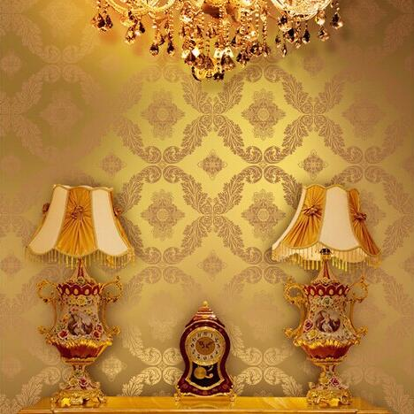 beibehang papel de parede Gold Blue Damask Textured Embossed Wallpaper Roll Living room background 3Dwall decor wall paper beibehang papel de parede 3d victorian damask wallpaper roll tv background embossed flowers wall papers home decor living room