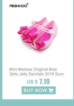84b9f21b74c Mini Melissa 2018 Baru Besar Busur Korea Jeli Sepatu Busur Sandal Datar  Plastik Sandal Perempuan Sandal Mini Melissa Sepatu 3 warna