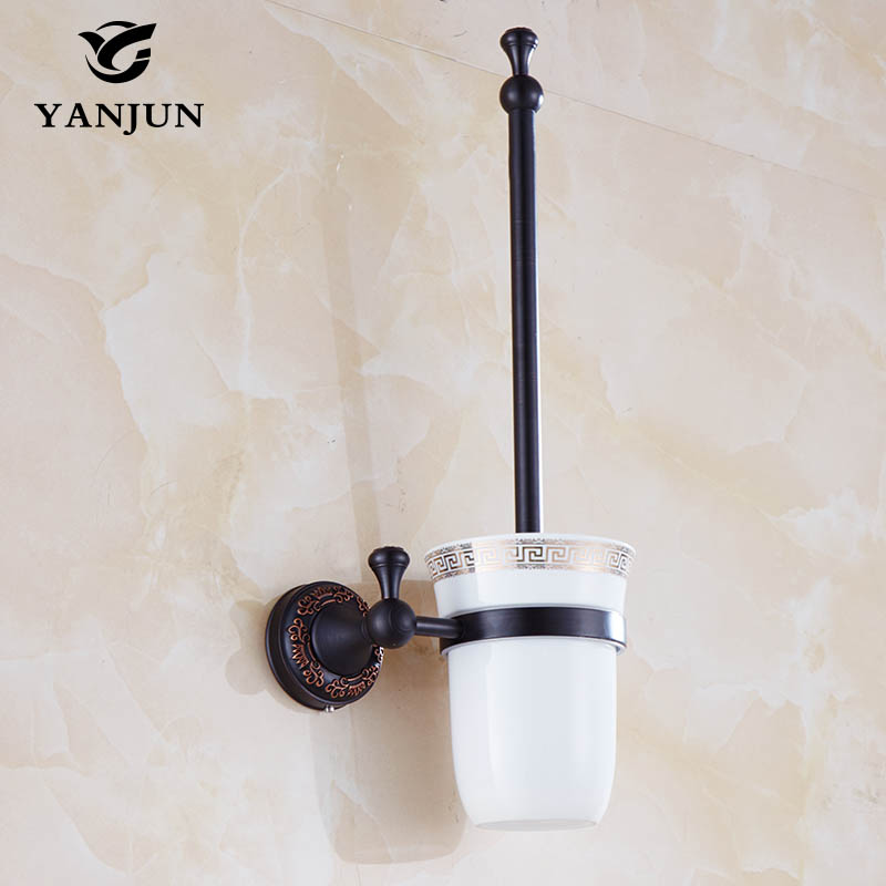 Good Quality European Style Brass Toilet Brush Holder Bathroom Accessories WC Brush With A Long Handle For The Toilet YJ-7862 контейнер для мусора violet плетенка цвет коричневый белый 4 л