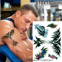 Body Art Waterproof Temporary Tatoo For Men And Women Individuality Arm Pattern Large Arm Flash Tattoo Sticker LC2848