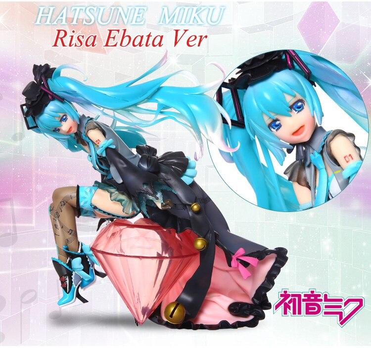 20cm Japanese anime figure pvc Hatsune miku Risa Ebata Ver action figure collectible model toys